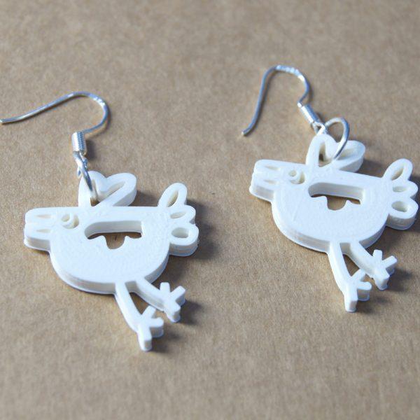 Birdie earring, bird earring, chicken earring
